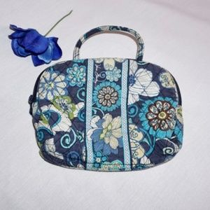 VERA BRADLEY Cosmetic Bag, Blue Floral Design